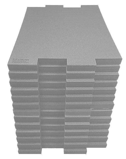 12 Tischtrennwände BRAINCASE Medium  690x590x45mm in hellgrau