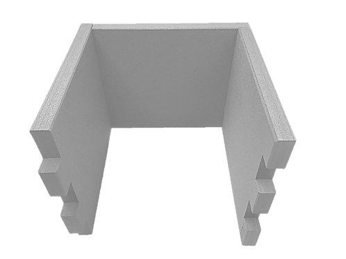 3 Tischtrennwände BRAINCASE Small   610x495x45mm in hellgrau aus PE-Hartschaum