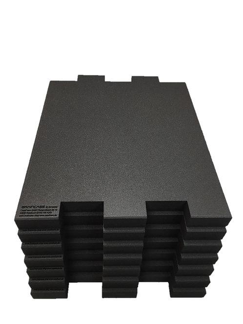 6 Tischtrennwände BRAINCASE Small 610x495x45mm in schwarz aus PE-Har6
