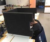 BRAINCASE Tischtrennwand aus Hartschaum