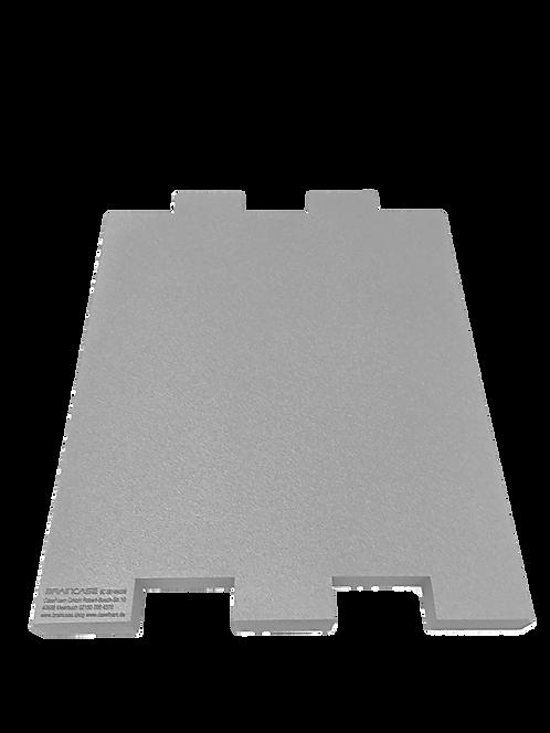 Eine Tischtrennwand BRAINCASE Small als Ergänzung 610x495x45mm in hellgrau