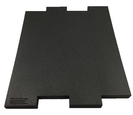 Eine Tischtrennwand BRAINCASE Medium als Ergänzung 690x590x45mm in schwarz
