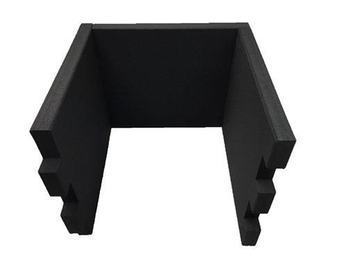 3 Tischtrennwände BRAINCASE Small   610x495x45mm in schwarz aus PE-Hartsch