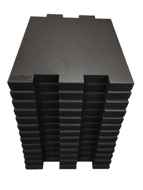 12 Tischtrennwände BRAINCASE Small 610x495x45mm in schwarz aus PE