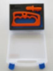 Schaum Inlay im Kunststoff Koffer