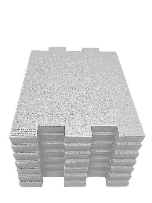 6 Tischtrennwände BRAINCASE Small 610x495x45mm in hellgrau aus PE-Hartschaum6