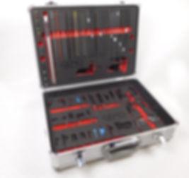 Präsentationskoffer mit individuellen Schaumeinlagen