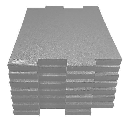 6 Tischtrennwände  BRAINCASE Medium  690x590x45mm in hellgrau6