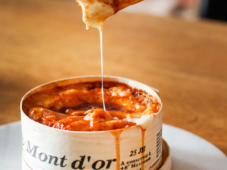 Sriracha Caramel Baked Mont Dor