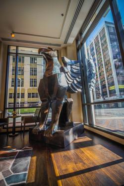 Brad Oldham Sculpture Griffin Bronze  (5)