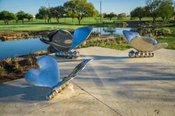 Brooks Butterfly sculpture trio