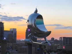 SkaterBIRD by Brad Oldham night sky Dallas April 2015
