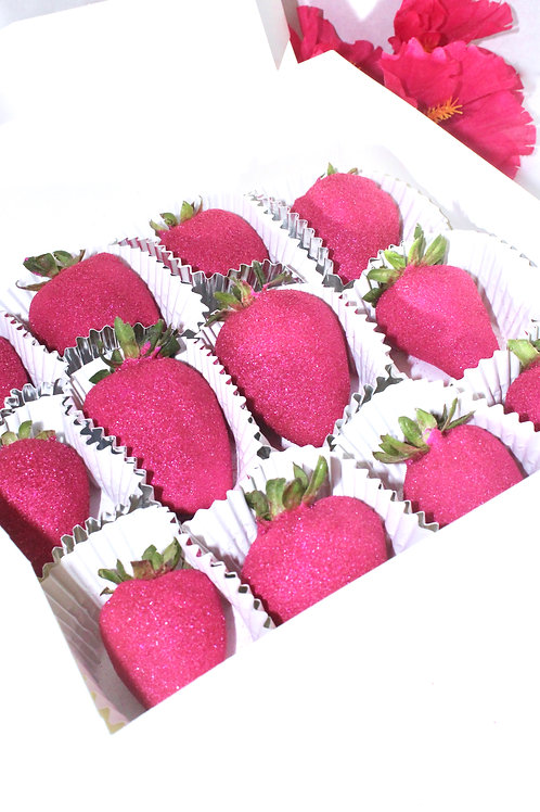 Edible Glitter Chocolate Covered Strawberries