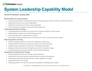 System Leadership Capability Model, full