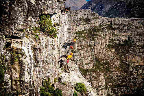 Hike and abseil Table Mountain combo