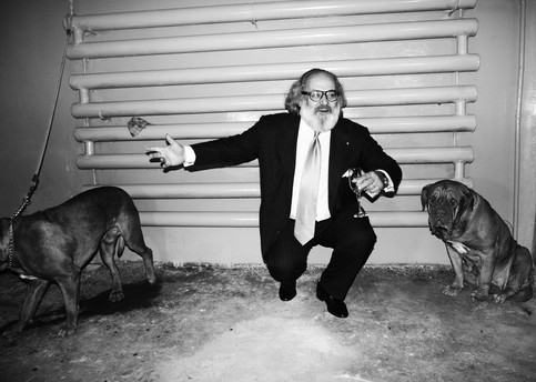 Stefano Ricci and dogs.