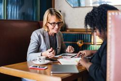 Woman having a meeting