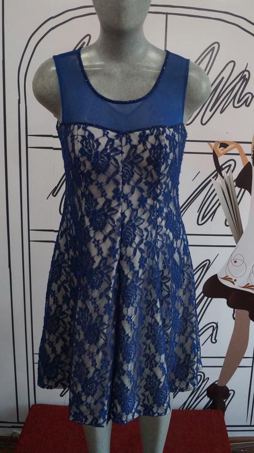 Nina Vestido Encaje De Ferre Azul Rey Sdbhtqrxco