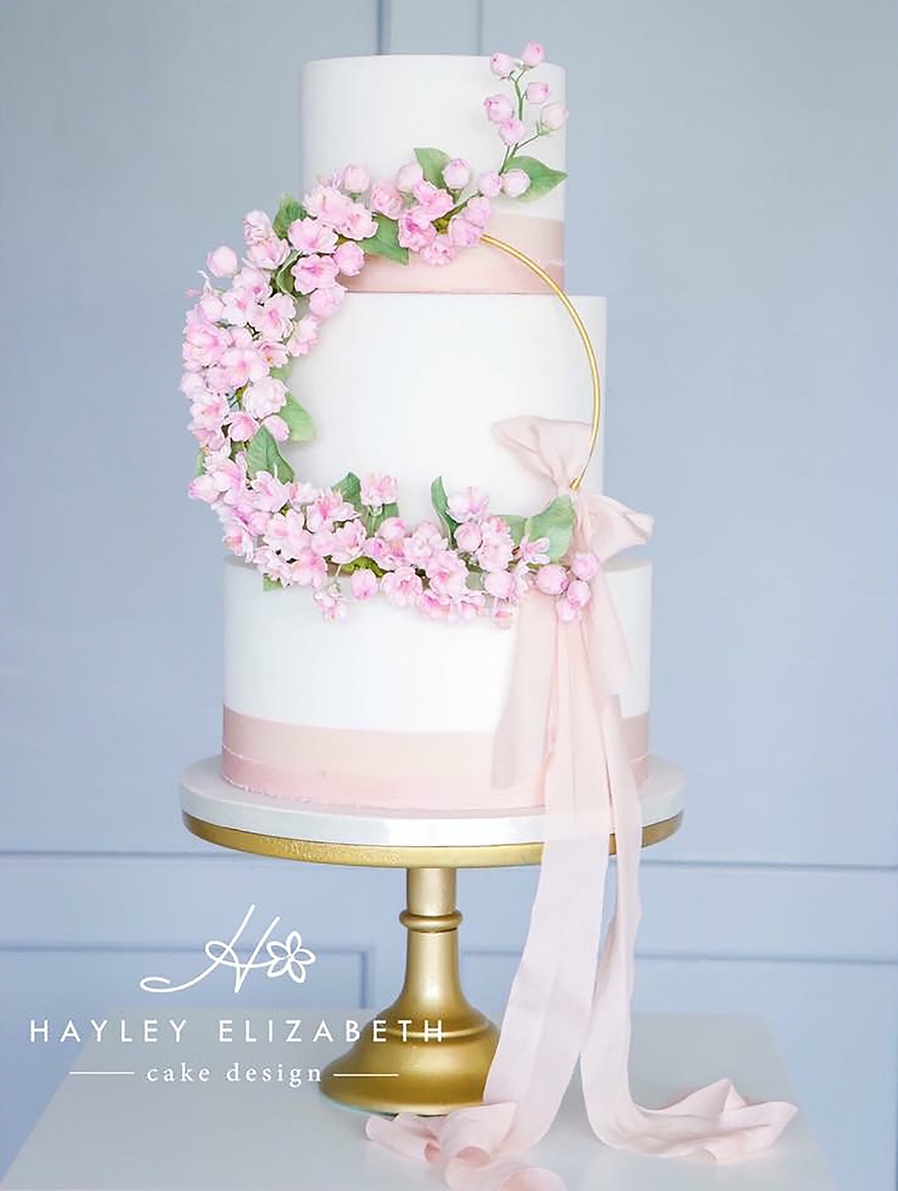 Wedding Cakes With Silk Ribbon An Emerging Trend