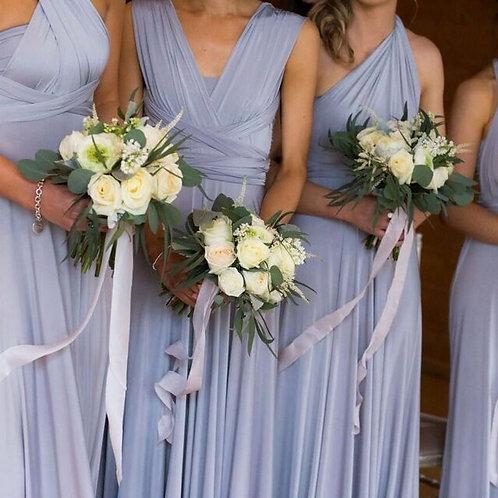 Lilac Grey Silk Ribbon
