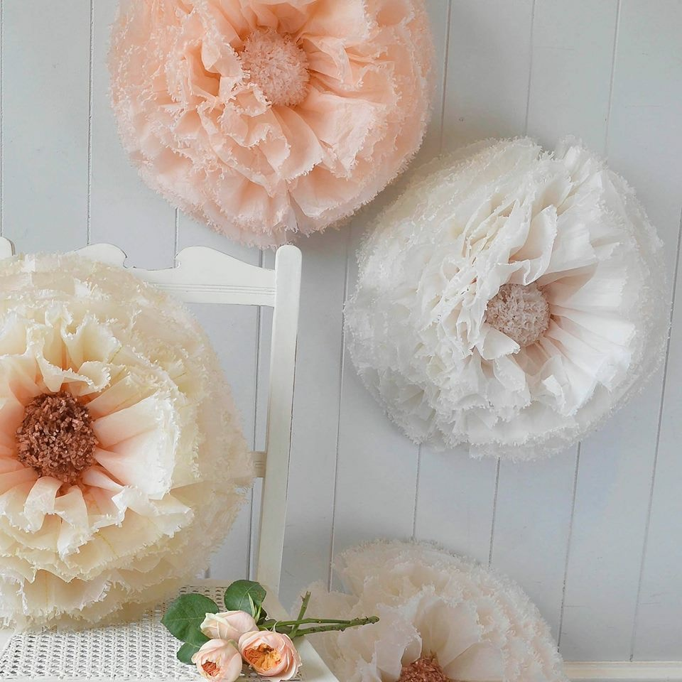 Blush, nude and copper pom peonies