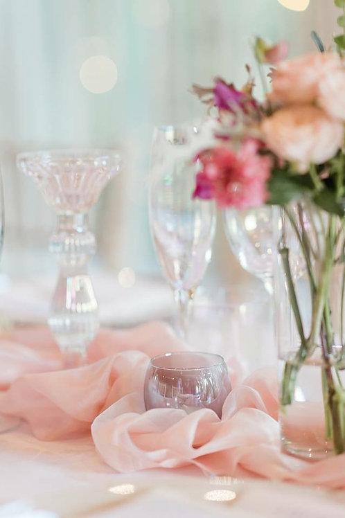 Boudoir Pink silk table runner
