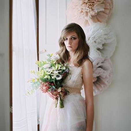Wedding Sparrow Fine Art Wedding  Blog- Boudoir editorial with Verona Lain Photography and Pompadour