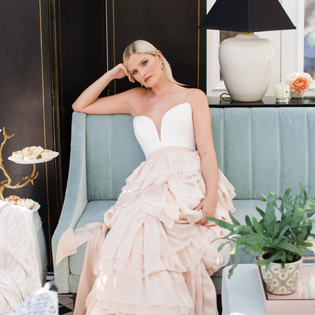 Brides Magazine & Most Curious - The tale of a silk hand-dyed skirt