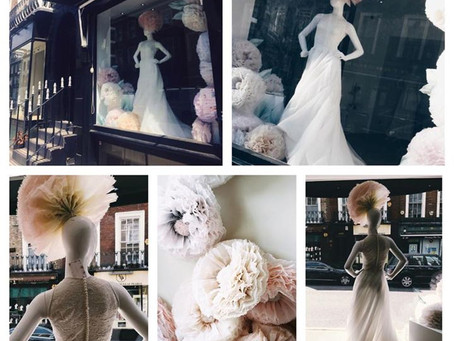 Maria Senvo 'Botanica' London Bridal Week window display