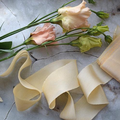 Pale Yellow Silk Ribbon