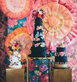 Rosalind Miller Cakes with backdrop