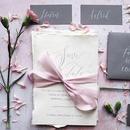 Rose Quartz silk ribbon