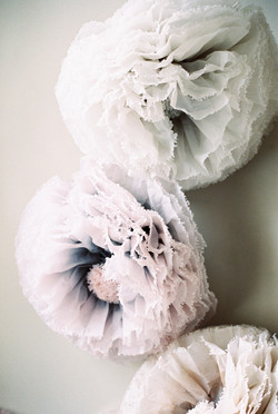 Blush and grey Paper Flowers