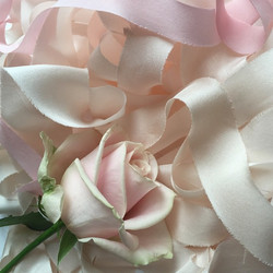 Blush hand-dyed silk ribbon