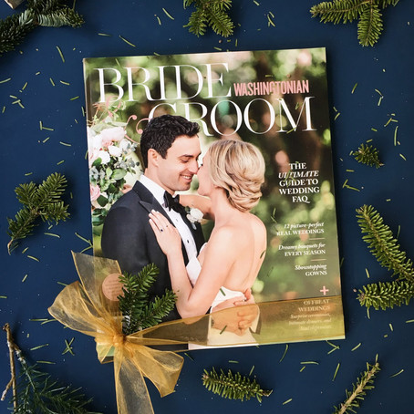 Washingtonian Bride and Groom Winter/Spring 2018 - real wedding - Julie and Tyler with Camille Cathe