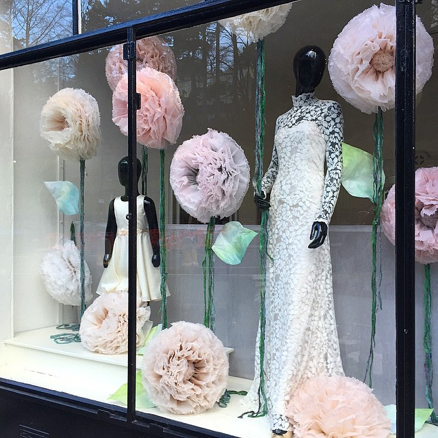 Pompom Blossom Window Display
