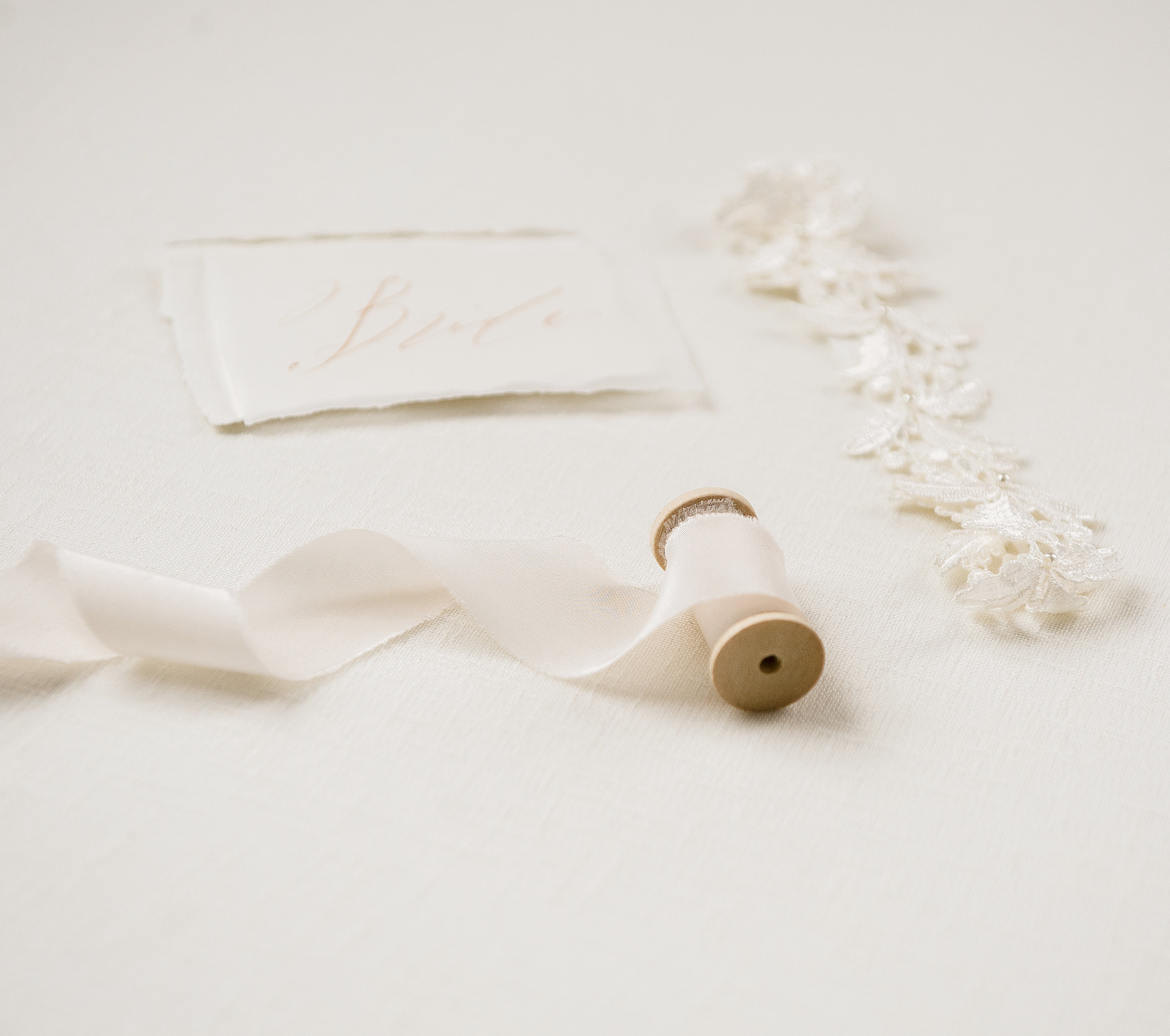 Ivory silk ribbon