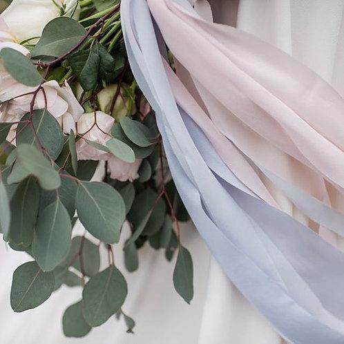 Rose Quartz & Serenity Blue Silk Ribbon Bundle