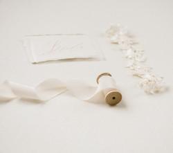 Ivory silk ribbon