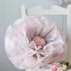 Blush and grey paper flower