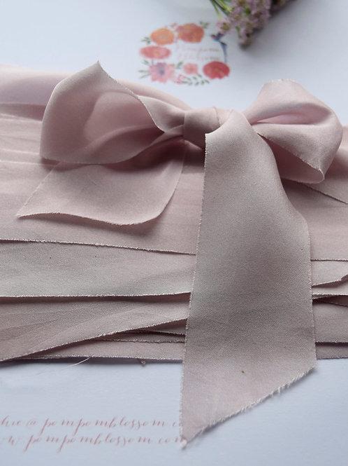 Suede Rose Silk Ribbon