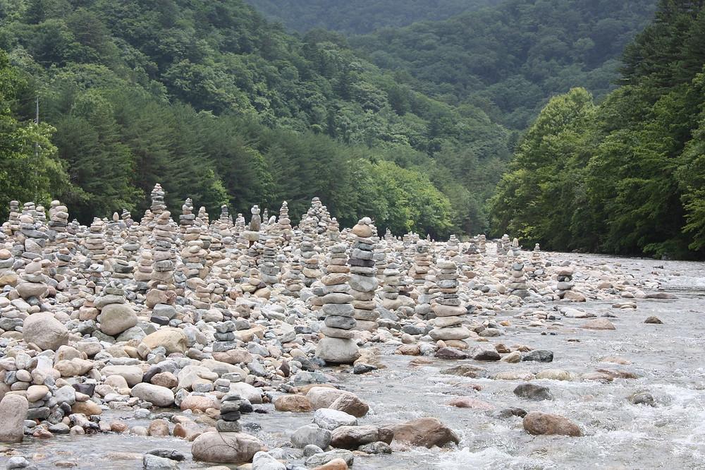 Wishing Stones: Baekdamsa Temple, North Korea