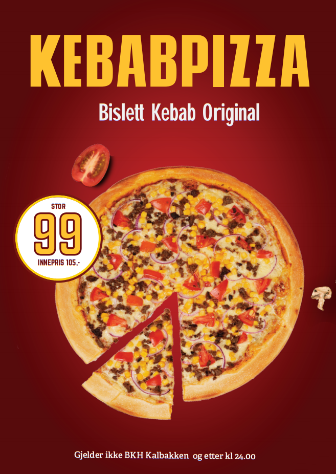 Bislett Kebab Original 99,-