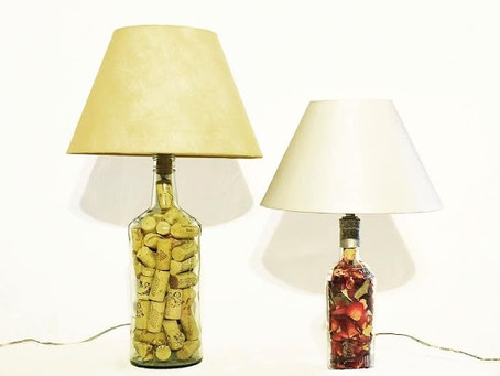 Upcycled Bottle Lamps
