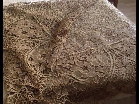 Vintage Needlelace Bedspread