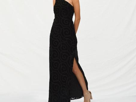 Our Classic Black Velvet gown