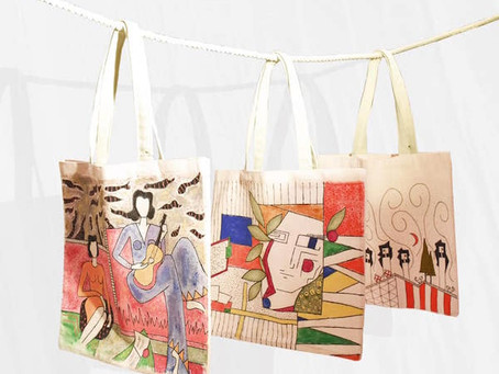 September Jewel of the Month:Beautiful Hand-painted Tote Bags &More!