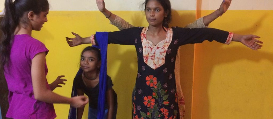 Theatre with 'The Community Library Project', Panchsheel Vihar  By Priiya