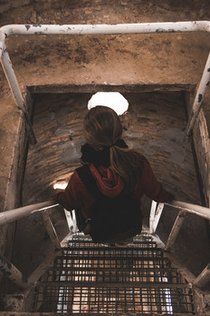 Exploring an old tower