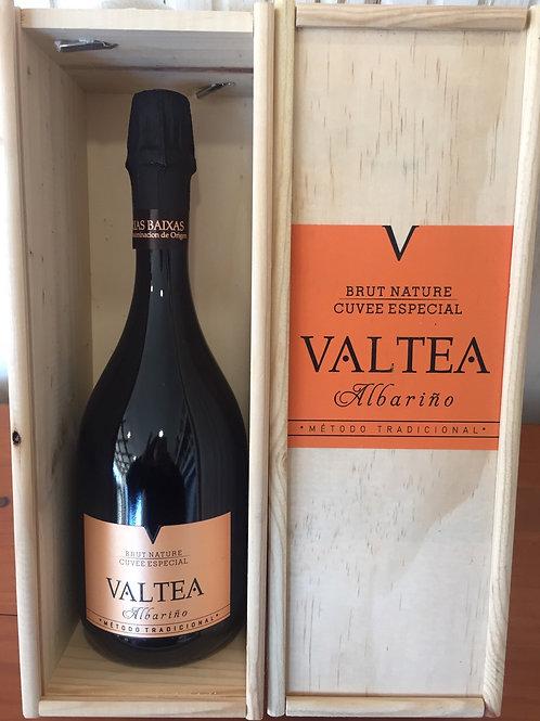 Estuche Madera 1 Botella Espumoso Valtea Brut Nature
